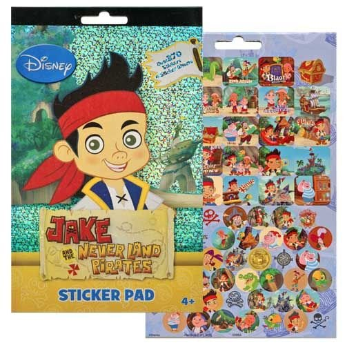 Disney Jake and the Never Land Pirates 4 Sticker Sheets Over 270 Stickers - 1