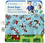 Bumkins Reusable Snack Bag, Dr. Seuss, 2-count