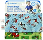 Bumkins Reusable Snack Bags, Blue/Gre...