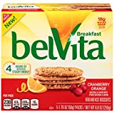 belVita Cranberry Orange Breakfast Biscuits, 5 Count Box, 8.8 Ounce (Pack of 6)