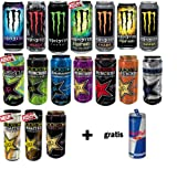 Energy Drink Monster & Rockstar MEGA-PACK Try + FREE Red Bull