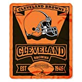 NFL Cleveland Browns Marque New Logo Printed Fleece Throw,...