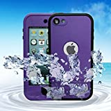 Ipod Touch – Comsoon(TM) Waterproof Case for Apple iPod Touch 5th 6th Generation Waterproof Heavy Duty Defender iPod Touch 5 6 Case, iPod 5 6 Cases For Boys Girls Kids, Built-in Touch Screen Protector for Better Shockproof Dirtproof Snowproof Dustproof Sweatproof, Kickstand for Viewing Hands Free (Purple)