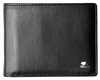 Brown Bear, Geldbörse Herren Leder Farbe schwarz, BB-103