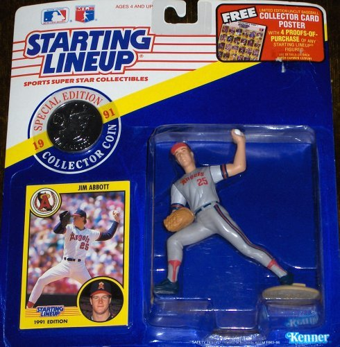 Jim Abbott 1991 MLB Starting Lineup