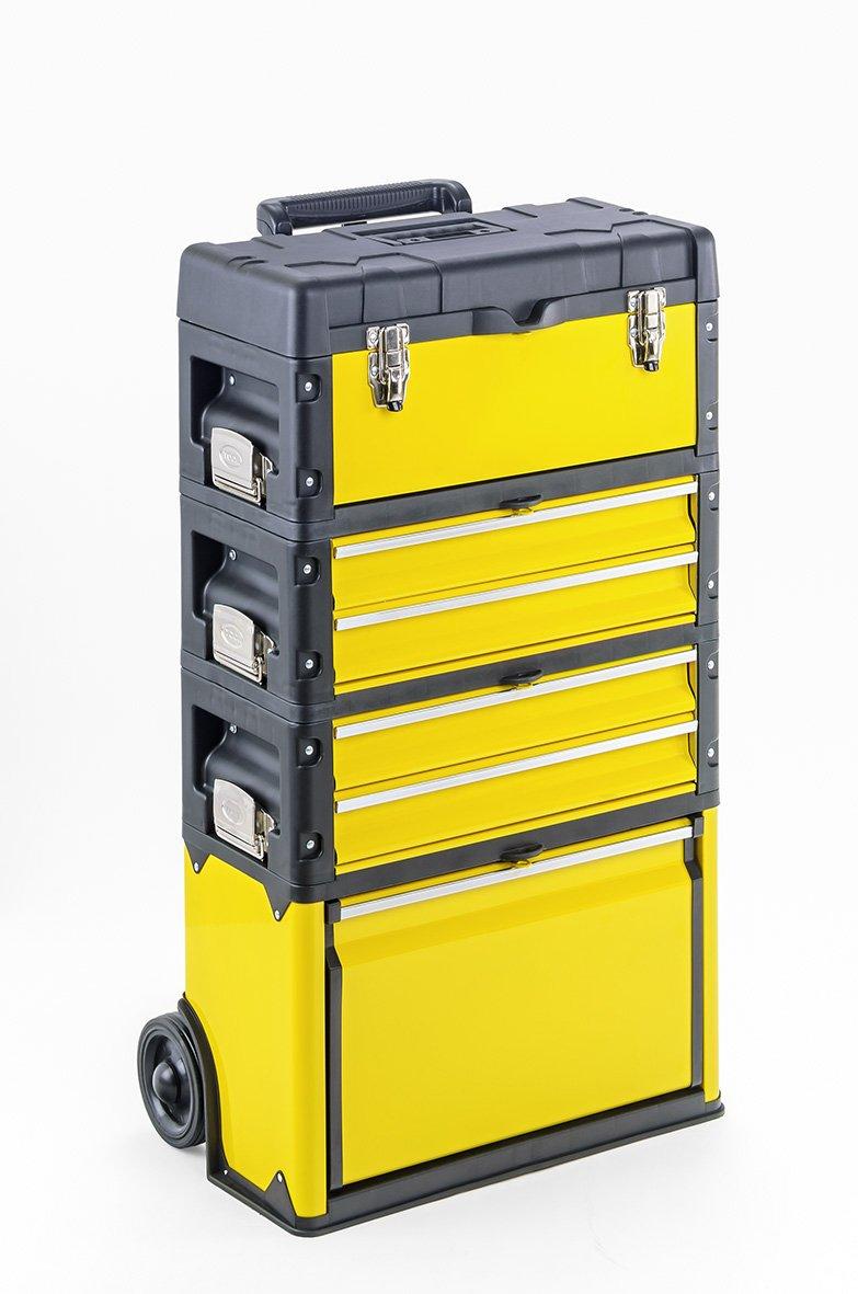 Trolley 4 Module mit 6 Fächern  Werkzeugtrolley Kunststoff Metall  BaumarktKundenbewertung und weitere Informationen
