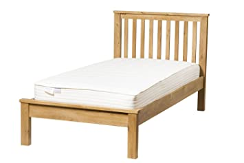 Waverly Oak Single Bed Frame in Light Oak Finish | Solid Wooden Bedroom 3ft Children's / Kids / Guest Bedstead