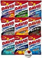 David Sunflower Seeds 9 Pack Variety (5.25 oz each) Includes Bonus Magnet from Conagra Foods