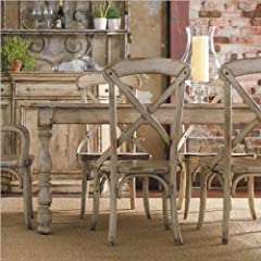 Hooker Furniture Wakefield Rectangle Leg Dining Table in Taupe