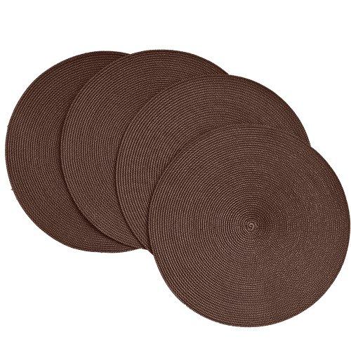 Benson Mills Victorian Round Placemats, Chocolate, Set of 4