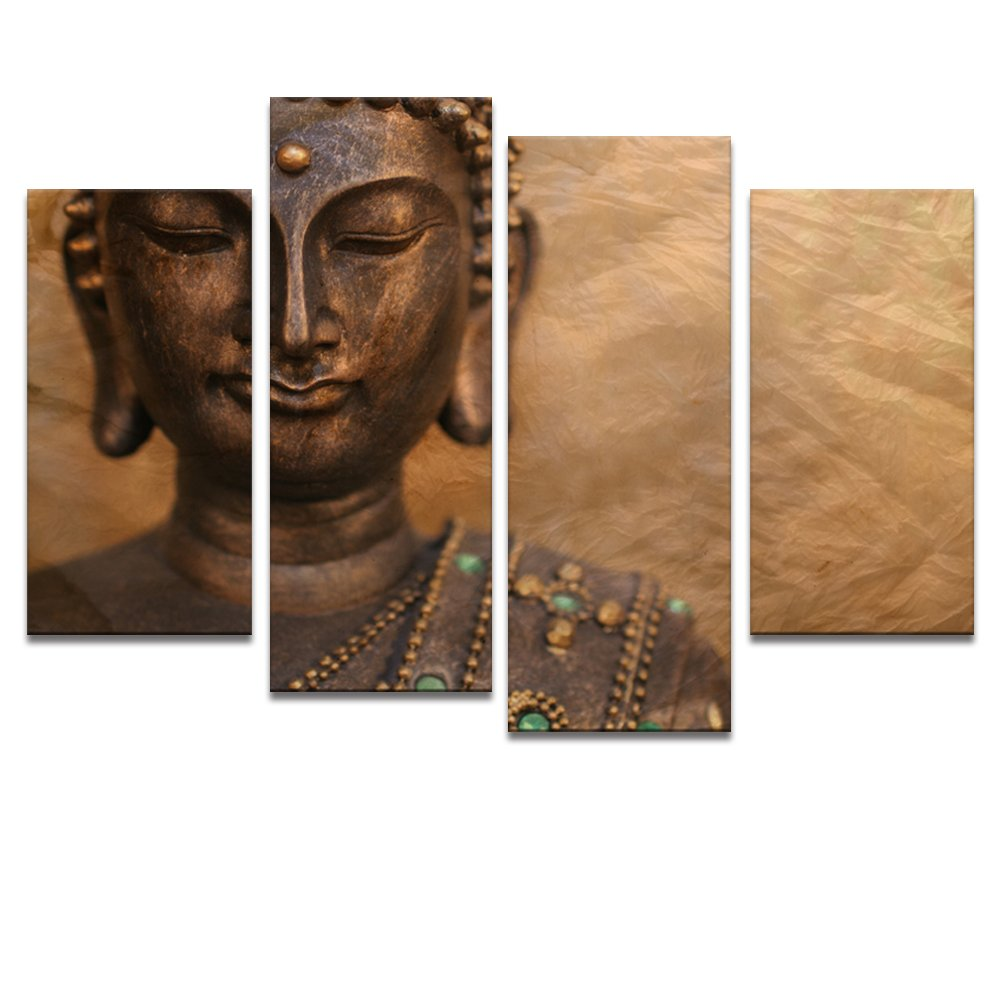 Large Size Peaceful BuddhaAct with CompassionLive in SimpleGroup Canvas Wall ArtHome DecorFramed Ready to Hang on  sc 1 st  large buddha statues & Buddha Wall Decor Ideas: Traditional and Peaceful