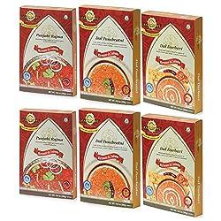 Sanskriti Combo of Punjabi Rajma, Dal Panchratni & Dal Darbari - Pack of 6 (2 each)