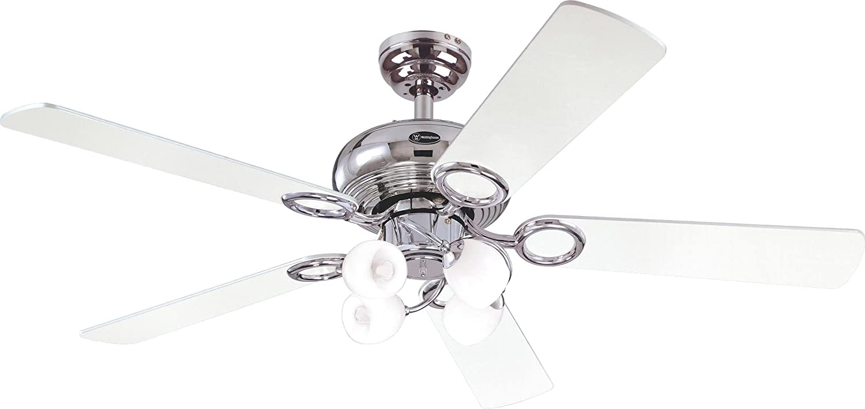 Westinghouse Helix Fusion Ceiling Fan - Chrome/Black/ White