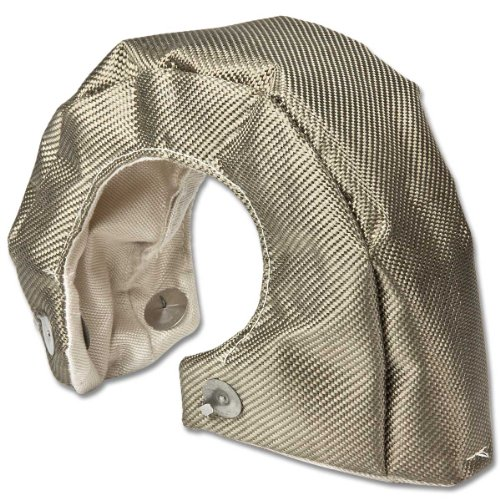 T4 Stainless Steel Knitted Mesh Turbocharger Heat Shield Wrap Blanket (Titanium)