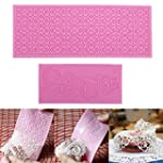 Lace 2pcs Silicone Mold Mould Sugar C...