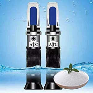 HunterBee Salinity Refractometer for Seawater and Marine Fishkeeping Aquarium 0-100 PPT with Automatic Temperature Compensation