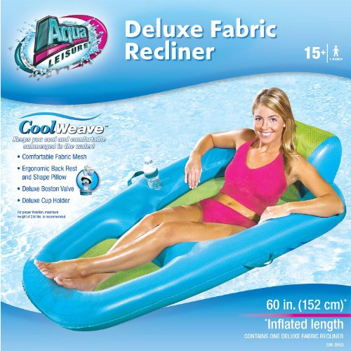 Deluxe Fabric Recliner Pool/Lake Float Blue front-166167