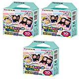 Fujifilm Instax Mini Instant Film Stained Glass -10 Sheets (3 packs set x 30 photos)
