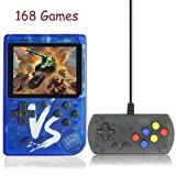 Kalolary Handheld Game Console, Portable Video Game 3 Inch HD Screen 500 Classic Games,Retro Game Console Can Play on TV, Good Gifts for Kids to Adult. (Blue) (Color: 500 Games-blue)