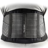 Back Support Brace Belt Lumbar Waist Double Adjust By Flexibrace ® (X-LARGE)