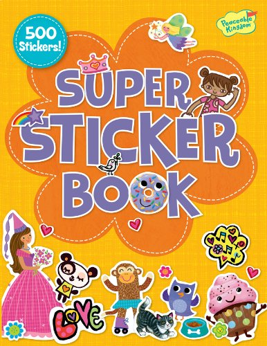 Peaceable Kingdom / Orange 500-Piece Super Sticker Book front-632825