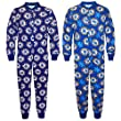 Chelsea FC Official Football Gift Boys Kids Pyjama Onesie Blue from Chelsea FC
