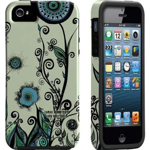 Great Sale Via Voottoo iPhone 5 Tough Vibe Case By Case-mate (Custom Art: Blue Green Swirl By Sarah Hennessey)