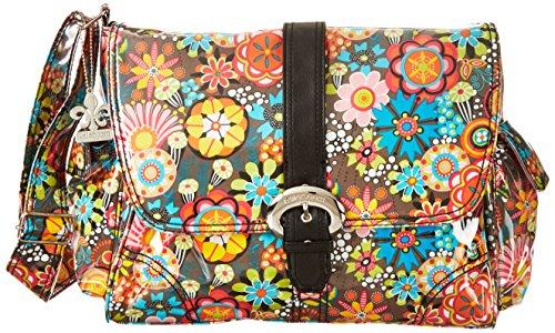 kalencom-kal-2960-retro-floral-bolso-cambiador-40-x-15-x-30-cm-multicolor-y-negro