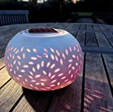 Lawn &amp; Patio - Colour Changing LED Garden Solar Filigree Table Light