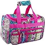 World Traveler Pink Boho Patchwork Duffle Bag 16-inch