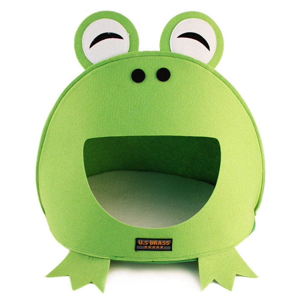 Green Frog Cool Comfortable Pet Home Indoor Sleeping Bag Portable Pet Dog Cat Kittens Bed House Nest Home