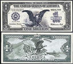 Black Eagle American Dream Million Dollar Bill - Lot of 100 Bills
