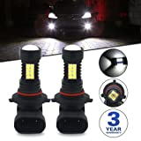Viesyled 9006 HB4 LED Fog Light Bulbs or DRL Super Bright 1200LM 3030 36-SMD 6000K White Projection