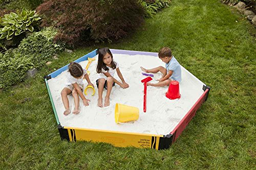 Leverler For Sand Box : Frame it all level sandbox crayola hexagon with cover