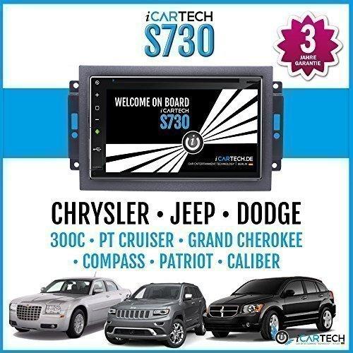"► ICARTECH 7"" Autoradio Lettore DVD per Chrysler 300 C, Chrysler PT Cruiser (PT), Jeep Grand Cherokee (WH), Jeep Compass (PK), Jeep Patriot (PK), DODGE Caliber ◄ Forte Android 4.1 Radio con Navigatore Gps✔Bluetooth✔Wifi✔Display Multi-Tocco ✔3G✔4G✔Pre"