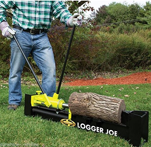 10 Ton Hydraulic Horizontal Log Splitter Manual Fire Wood Cutter Wedge Hand Pump /#B4G341TG 32W4-15RTH434502
