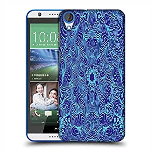 Snoogg Abstract Neon Blue Pattern Designer Protective Phone Back Case Cover For HTC Desire 820