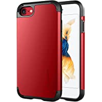 Luvvitt Shock Absorbing Case Best Heavy Duty Dual Layer Tough Cover for Apple iPhone 8 (Red)