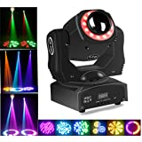 Stage Lighting Led Moving Head Spot Light 85W RGBW Kaleidoscope With 15 Gobos Patterns Wash Lights By Sound Activated DMX 512 Control 9/11Ch For Wedding Concert Dj Disco Party Show (1pack) (Color: black, Tamaño: spot 1pack)