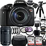 Canon EOS Rebel T6i DSLR Camera Bundle with EF-S 18-135mm f 3.5-5.6 IS STM Lens & EF-S 55-250mm f 4-5.6 IS STM Lens - Carrying Case and Accessory Kit (22 Items)