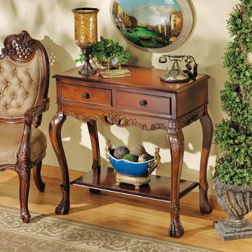 Cheap 34.5″ Antique Replica Hand-carved Solid Hardwood Console Foyer Table (AE2213)