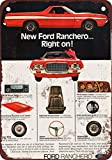 1972 Ford Ranchero Vintage Look Reproduction Metal Sign