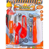 Vibgyor Vibes™ Tool Set, Tool Kit For Kids And Toddlers With 9 Tools. Best Gift To Children-Contents And Colour...