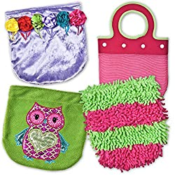 Mary Meyer Purse Switchables Set/Liner Handle with 3 Interchangeable Covers, Pink