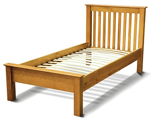 Westminster Solid Oak 3ft Single sized Bed Frame in Light Oak Finish | Solid Wood Bedroom 3FT Children's / Kids / Guest Bedstead