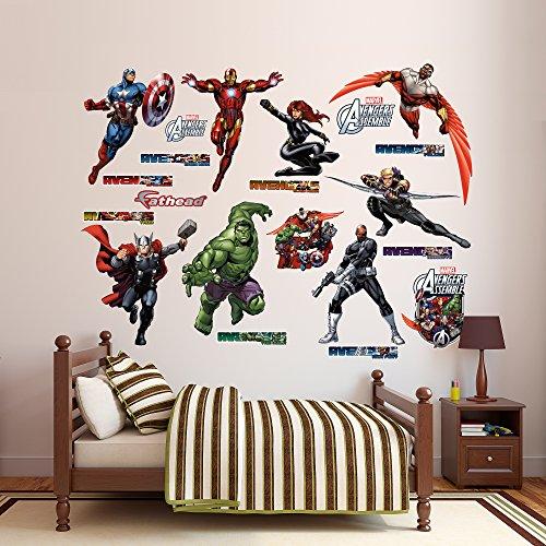 Avengers bedroom decor for Avengers wall mural amazon