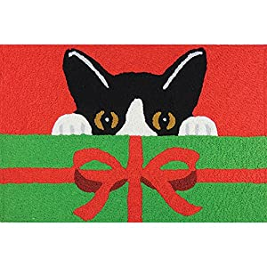 Jellybean kitty cat christmas present welcome for Christmas cat yard decorations