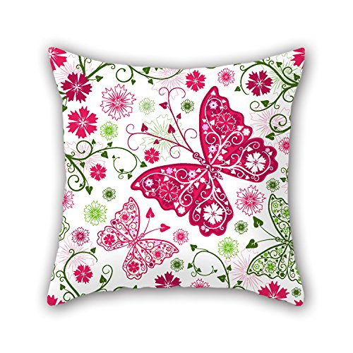 NICEPLW Butterfly Cushion Cases 18 X 18 Inches / 45 By 45 Cm Gift Or Decor For Festival,car,shop,home Office,him,drawing Room
