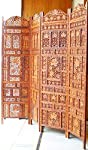 Aarsun Woods Aarsun: Hand Carved Wooden Partition Screen in Sheesham Wood/ Room Divider