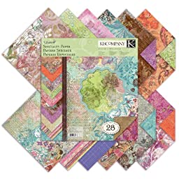 K&Company Jubilee Double-Sided Specialty Paper Pad, 28 Sheet